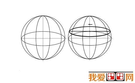 圆球体增形训练教程_素描教程_学画画_我爱画画网