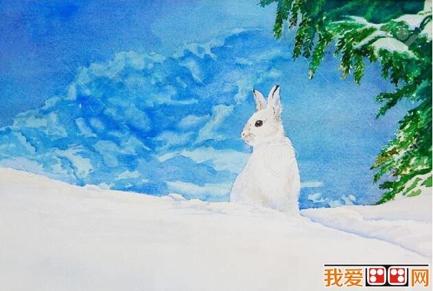 冬天里的小动物儿童画作品欣赏(3)
