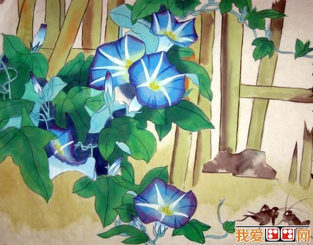 花园里的花多种多样,连蝴蝶和蜜蜂都被花的香味吸引