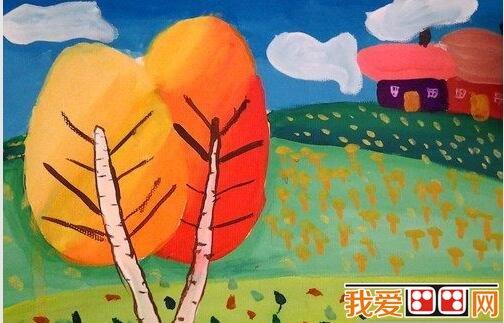 儿童水粉画 乡村风景水粉作品欣赏 2