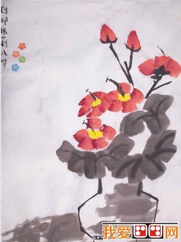 儿童画中国画:花卉作品欣赏(2)