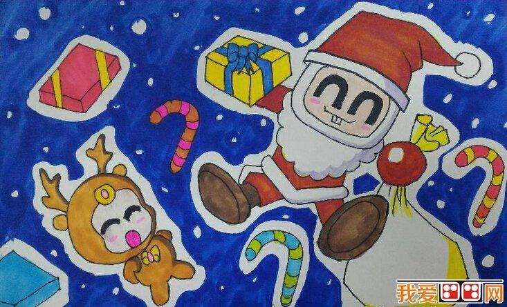 儿童圣诞节画画作品欣赏(2)