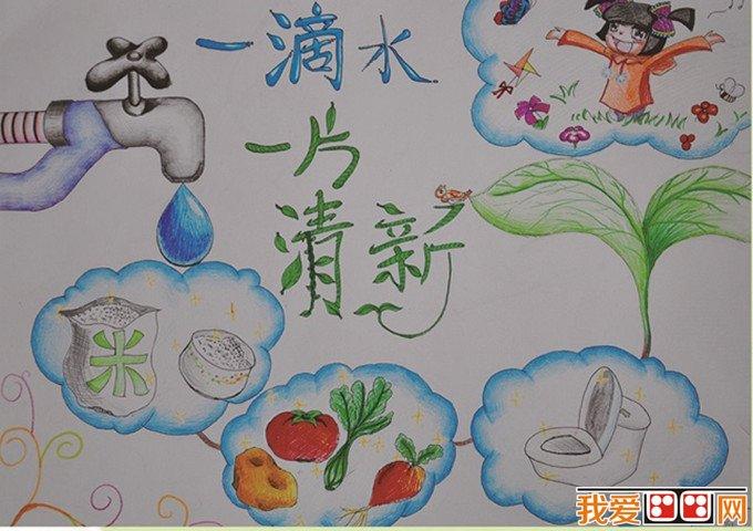 节约用水儿童画作品欣赏(2)
