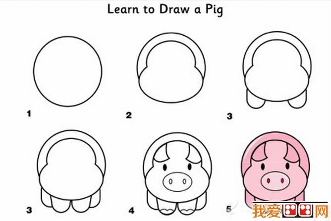 小动物简笔画技法(3)_儿童画教程_学画画_我爱画画网