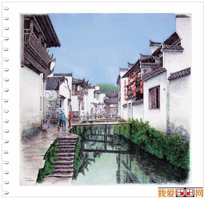 庞恩昌钢笔画作品赏析(2)_世界名画_百科_我爱画画网