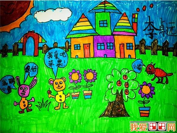 幼儿图画作品除了能反映出孩子的动作发展、绘画技能外,还可以折射出孩子的情绪反应、自信心、性格特征等个性方面的特点,如性格外向、活泼自信的幼儿构图大胆、线条粗框,更多选择红、黄等暖色调,但可能在作画时比较粗心、不拘小节,有时半途而废。而性格内向、文静温和的孩子画画认真,有始有终,但画面比较拘谨、放不开,色调偏冷、注重细节等。心理健康状况良好的幼儿图画作品天真烂漫、构图饱满、色彩明快。  幼儿绘画:春天拍照 美术活动除了是幼儿自我表达的工具外,同时通过幼儿的美术活动来了解幼儿真实的内心世界。通过美术教学,了解
