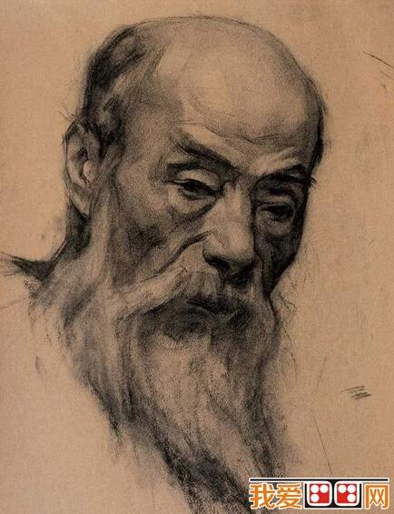 靳尚谊人物头像素描作品欣赏(6)