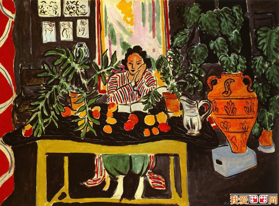 野兽派创始人亨利·马蒂斯人物油画作品欣赏(2)
