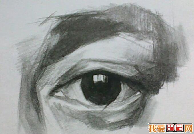 素描教程:眼睛结构素描步骤详解(2)_素描教程_学画画