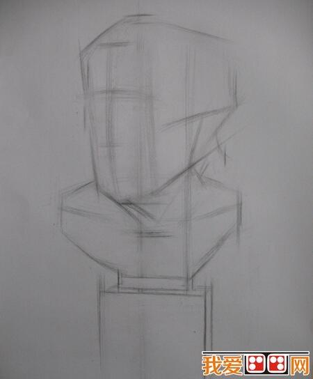 素描教程:石膏像塞内卡素描教程示范_素描教程_学画画