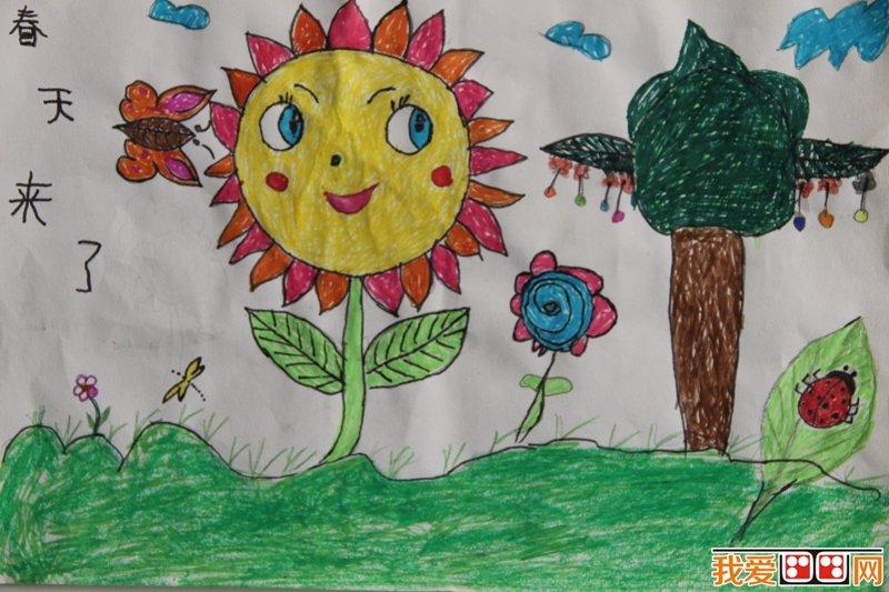 一年级春天来了简笔画内容一年级春天来了简笔画图片