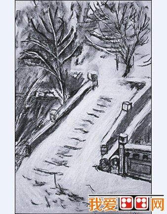 小央美儿童风景素描画欣赏
