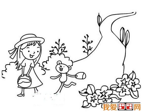 春天的景色儿童简笔画作品欣赏 儿童画教程 学画画 我爱画画网 一个免费学