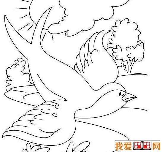 春天的景色儿童简笔画作品欣赏 2