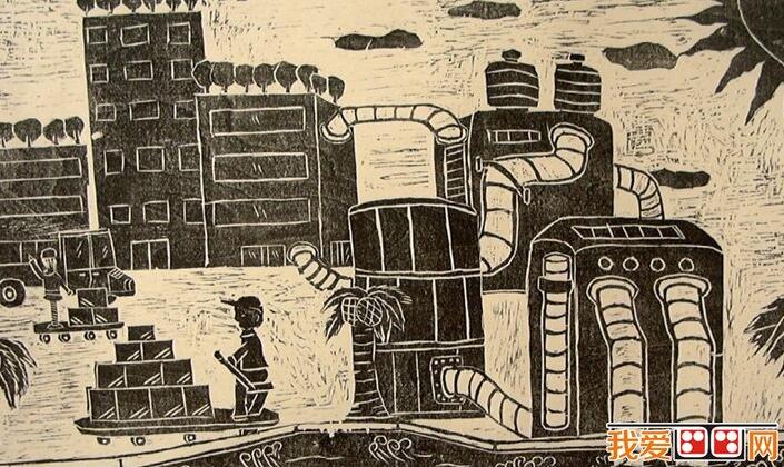海底世界儿童画科幻画作品欣赏(3)