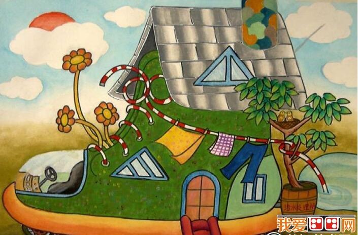 神奇的建筑儿童科幻画作品欣赏(6)