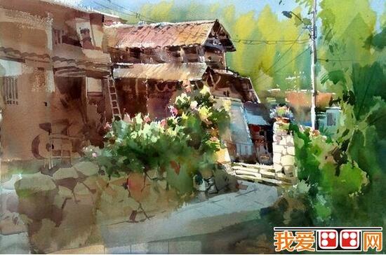 吴昌文风景水彩画作品欣赏