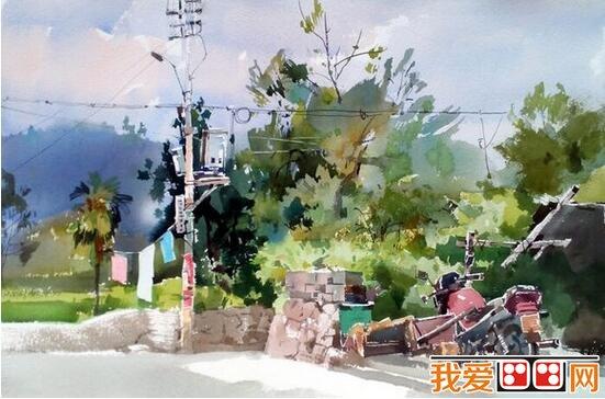 吴昌文风景水彩画作品欣赏(2)