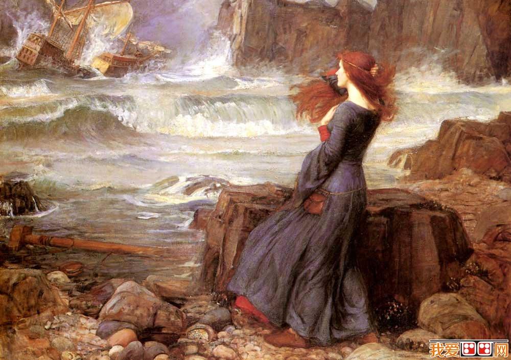 英国新古典主义画家沃特豪斯人物油画作品赏析图片