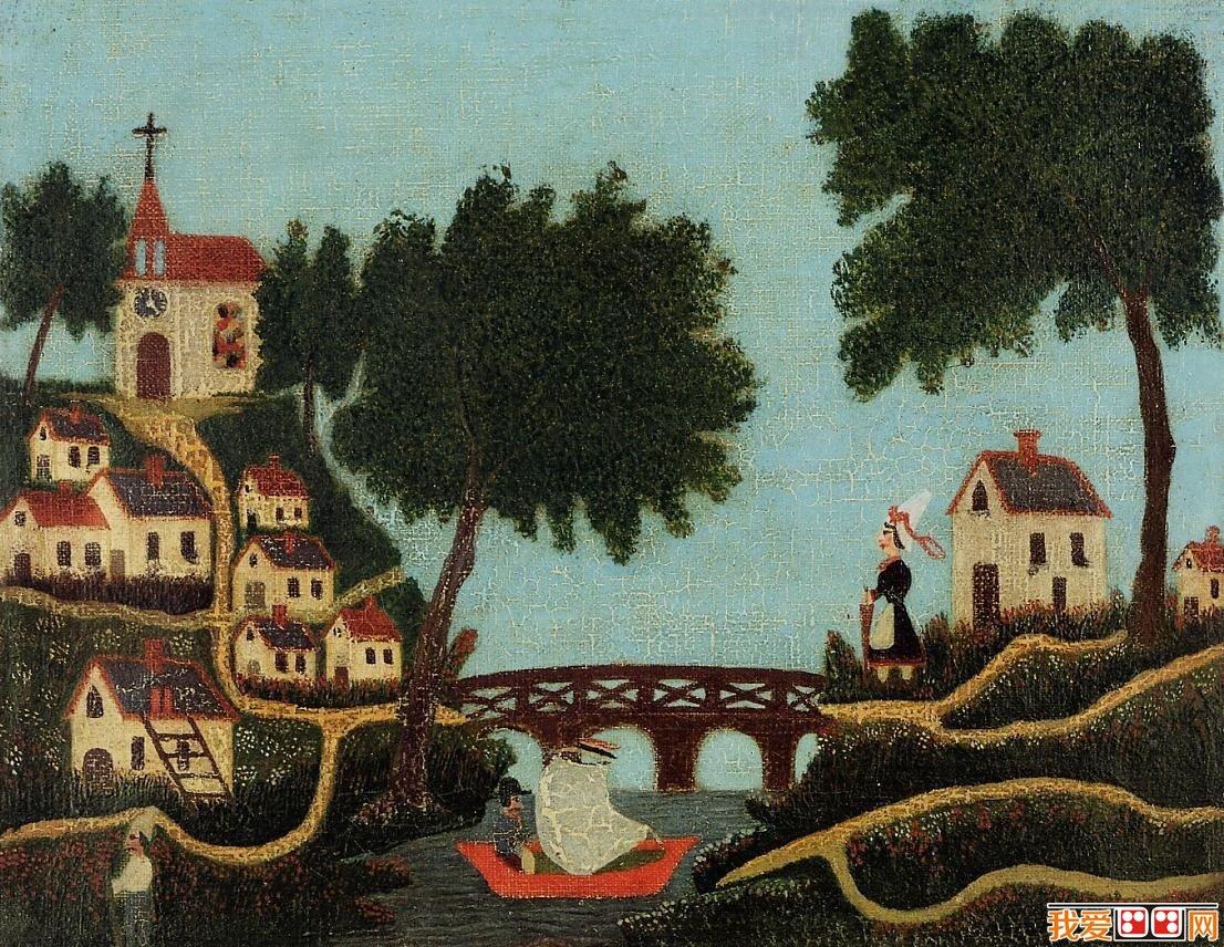 风景油画     40岁以后开始不断地作画,受到当时前卫艺术家 毕加索