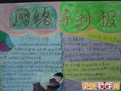 文明上网主题小学生手抄报作品(2)图片
