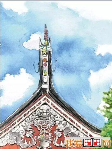 闽南老房子建筑手绘图片(2)