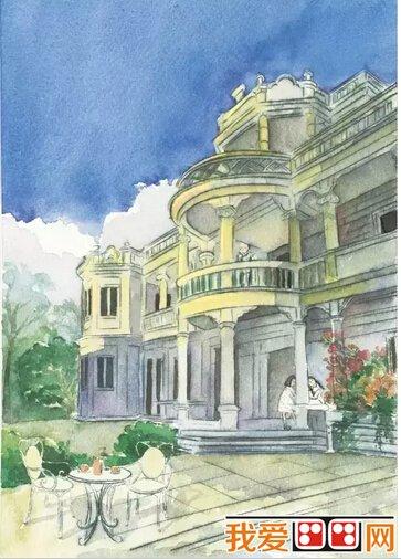 闽南老房子建筑手绘图片(3)