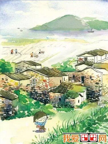 村子漫画风景手绘