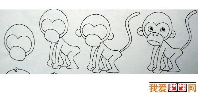 儿童简笔画小猴子