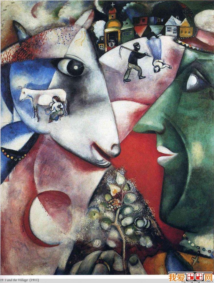家马克 夏加尔抽象画作品赏析