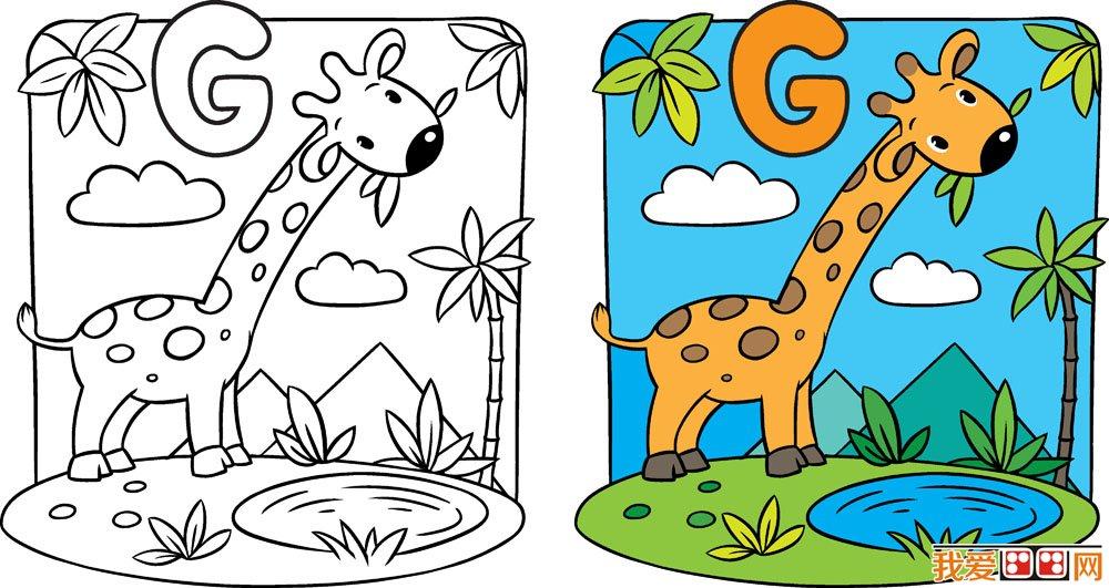 长颈鹿绘画