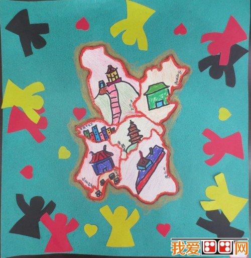 """湖北省""""美丽中国""""第二届少儿手绘地图大赛获奖作品(3)"""