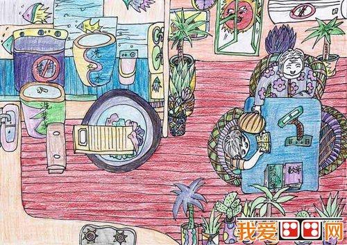 倡导节约用水的儿童画欣赏(4)图片
