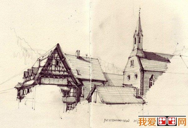 欧洲建筑手绘作品欣赏(4)