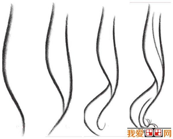 漫画教程 漫画女生发型画法详解 2
