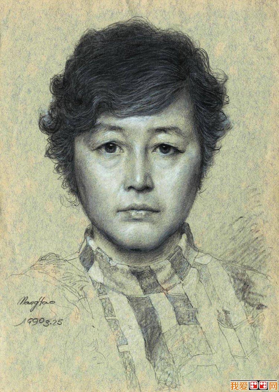 素描女人头像作品