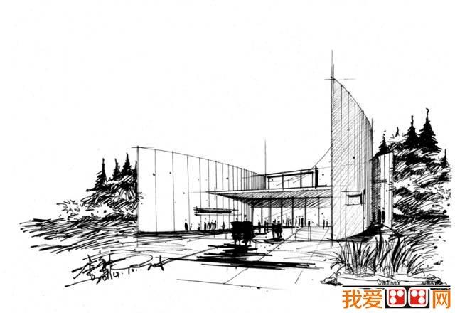 长春城市建筑手绘图片