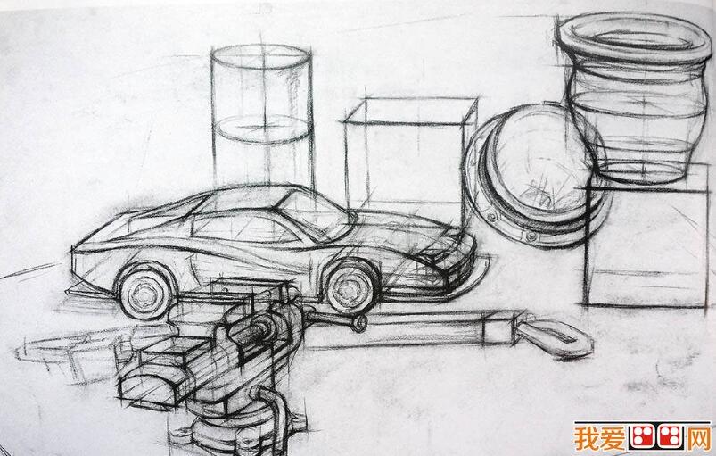 中国美院学生优秀结构静物素描作品欣赏(3)_素描教程