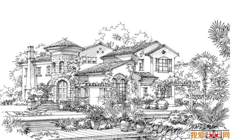 钢笔速写建筑风景作品赏析(4)