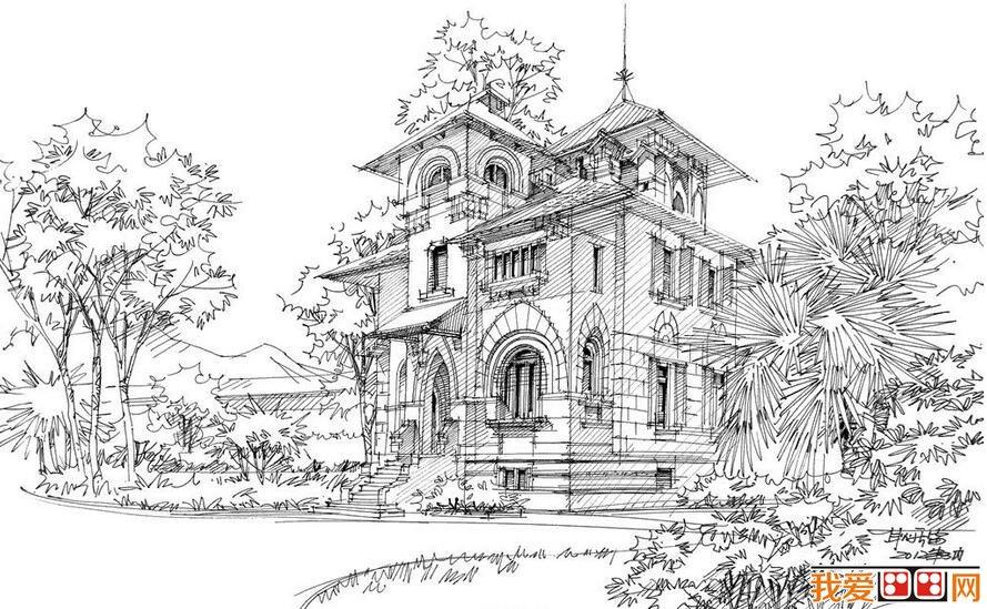 钢笔速写建筑风景作品赏析(5)