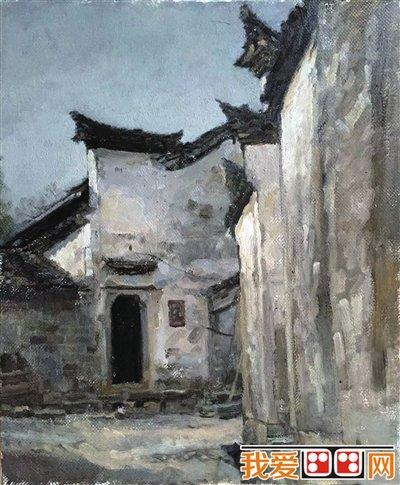 宁夏大学查济风景油画写生作品欣赏