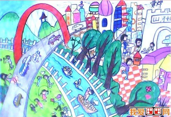 想象力丰富的儿童水彩画公园图片(5)