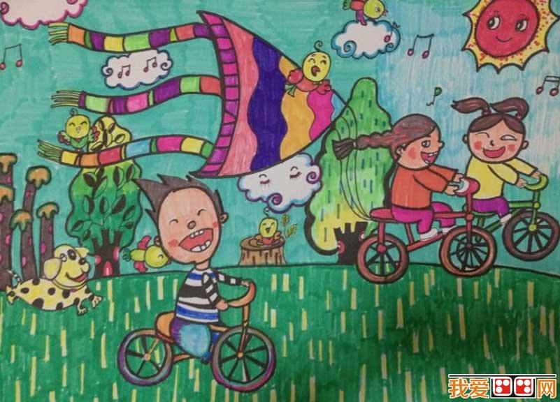 学画画 儿童画教程 儿童水彩画     大家都喜欢美丽的春天吧,春天万物
