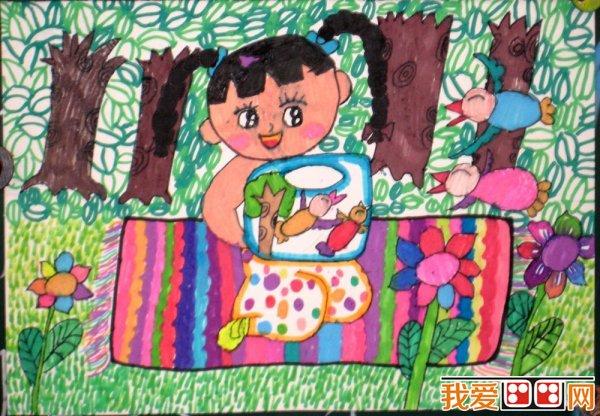 春游优秀儿童水彩画作品欣赏(2)_儿童画教程_学画画