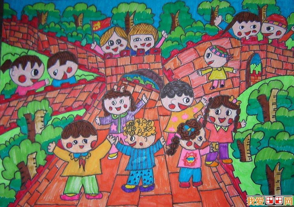 春游优秀儿童水彩画作品欣赏(3)_儿童画教程_学画画