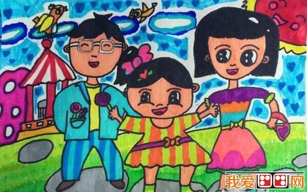 春游优秀儿童水彩画作品欣赏(5)_儿童画教程_学画画