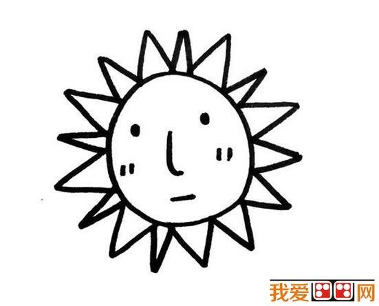 小学生太阳公公简笔画作品图片大全(3)_儿童画教程_学