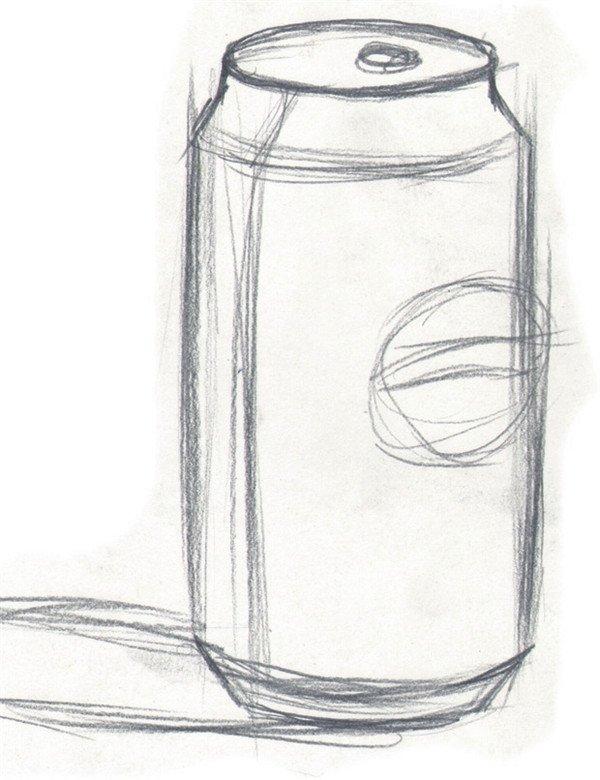 水粉画可乐瓶的绘画教程(2)