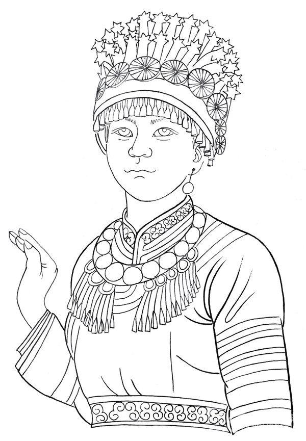 白描少数民族人物欣赏与画法 3