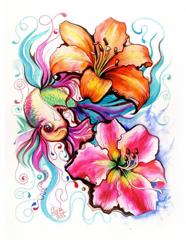 anna bucciarelli精美的手绘彩色插画欣赏_图片_我爱